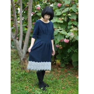 mina perhonen - ミナペルホネン skyful ワンピース ドレス 38