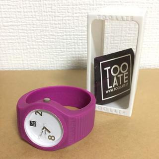 オープニングセレモニー(OPENING CEREMONY)のOPENING CEREMONY シリコン 腕時計 TOO LATE 箱付き(腕時計)