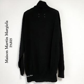 マルタンマルジェラ(Maison Martin Margiela)のメゾン マルタン マルジェラ ウール ビッグ ニット 黒(ニット/セーター)