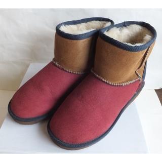 プールサイド(POOL SIDE)のプールサイド/POOLSIDE/ムートンブーツ/マルチカラー/24.5cm/L(ブーツ)