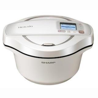 SHARP - シャープ  水なし自動調理鍋 ヘルシオホットクック  KN-HW24E-W