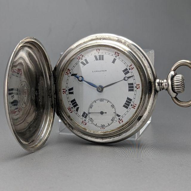 ロレックス スーパー コピー 最高品質販売 、 LONGINES - 1920年 アンティーク 動作良好 ロンジン 銀無垢フルハンターケース 懐中時計の通販