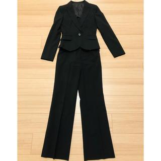 アールユー(RU)のRU レディーススーツ ウォッシャブルパンツスーツ 黒(スーツ)