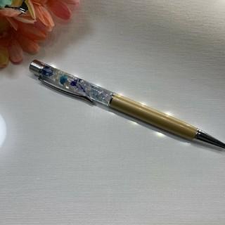 ボールペン  キラキラ オリジナル ベージュ系 お花 送料込み  贈り物などに(その他)