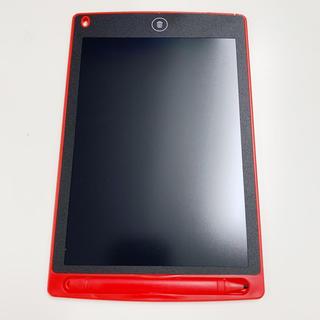 最新型電子メモ帳 電子パッド タブレット型 デジタルメモ ペン付き お絵描き 赤