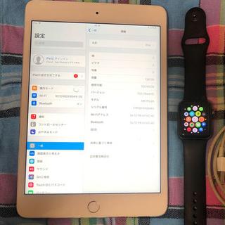 iPad - iPad mini 4  128GB と Apple watch series2