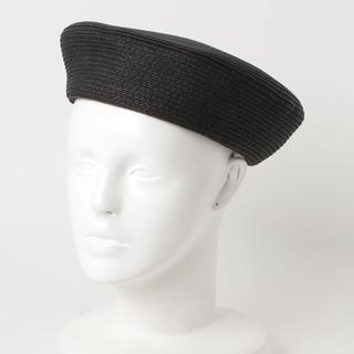 アズールバイマウジー(AZUL by moussy)の新品未使用! ザツザイ風ベレー帽 ブラック(ハンチング/ベレー帽)