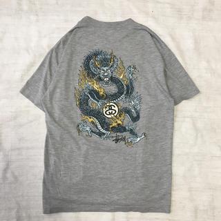 STUSSY - 【激レア】 古着 STUSSY ステューシー Tシャツ ビッグプリント 90s