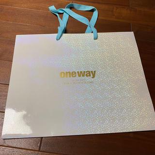 ワンウェイ(one*way)の限定品❗️ワンウェイ ショップ袋 ショッパー キラキラ(ショップ袋)