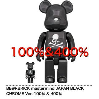 メディコムトイ(MEDICOM TOY)のBE@RBRICK mastermind BLACK CHROME Ver. (その他)