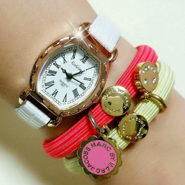 新品アウトレット時計♥ホワイト×ゴールド レディースのファッション小物(腕時計)の商品写真