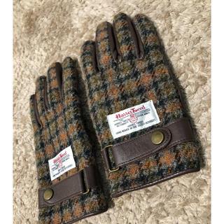 ハリスツイード(Harris Tweed)のハリスツイード 手袋 チェック 茶色(手袋)