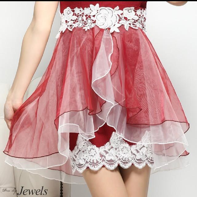 JEWELS(ジュエルズ)のオーガンジーミニドレス レディースのフォーマル/ドレス(ナイトドレス)の商品写真