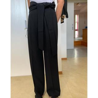 マックスマーラ(Max Mara)のMAX MARA 上質ウールサッシュベルト付きブラックパンツ(その他)