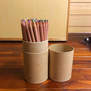 ムジルシリョウヒン(MUJI (無印良品))の【ほぼ未使用】無印良品 色鉛筆 60色 紙管ケース入り(色鉛筆)