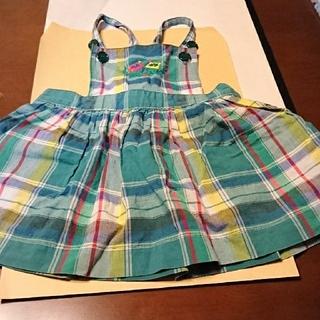 ミキハウス(mikihouse)のMIKI HOUSE 夏用 サロペット スカート80(ロンパース)