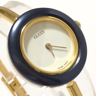 グッチ(Gucci)の超美品 グッチ GUCCI 時計 チェンジベゼル ガンメタ(腕時計)