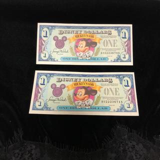 ディズニー(Disney)のディズニーダラー$1  65th 2枚 1993年(貨幣)