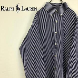 ラルフローレン(Ralph Lauren)のラルフローレン クラシックフィット 刺繍ロゴ ストライプ BDシャツ(シャツ)