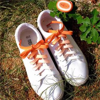 靴ひも シューレース グラデーション オレンジ、ブルー(その他)
