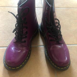 ドクターマーチン(Dr.Martens)のDr.Martens 8ホール 紫(ブーツ)