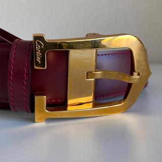 Cartier - 3/17まで値下げ中!【Cartier】【美品】メンズ Cアロンジェレザーベルト