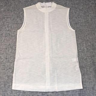 ルシェルブルー(LE CIEL BLEU)のルシェルブルー シアーハイネックノースリーブトップス(カットソー(半袖/袖なし))