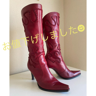 Sergio Rossi - 3/17まで値下げ中!【Sergio Rossi】ブーツ 本革 22.5cm