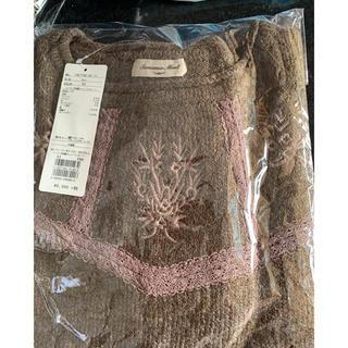 サマンサモスモス(SM2)の新品*SM2*レースと花刺繍のニットプルオーバー(ニット/セーター)