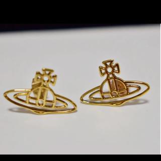 ヴィヴィアンウエストウッド(Vivienne Westwood)のピアス 両耳 シンライン ゴールド オーブ 美品 ヴィヴィアンウエストウッド(ピアス(両耳用))