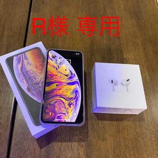 アイフォーン(iPhone)のiPhonexs max 512GB applecare +イヤホン、その他(スマートフォン本体)