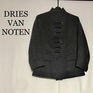 DRIES VAN NOTEN - ドリスヴァンノッテン 毛 灰色 コート ジャケット ダブルブレスト 変形