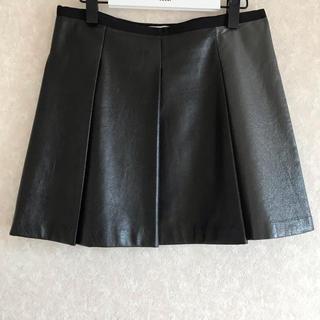 サカイラック(sacai luck)のsacai luck レザー風 プリーツスカート(ミニスカート)