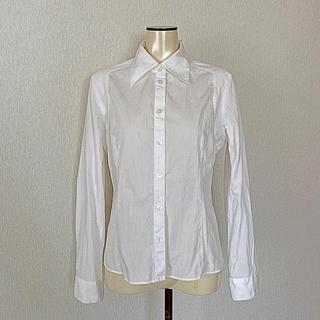 ジバンシィ(GIVENCHY)のジバンシィの長袖 ホワイト 白シャツ ブラウス Lサイズ(シャツ/ブラウス(長袖/七分))