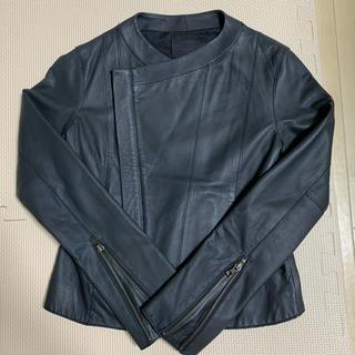 ステュディオス(STUDIOUS)のSTUDIOUS レザージャケット 羊革 ブラック 黒(ライダースジャケット)