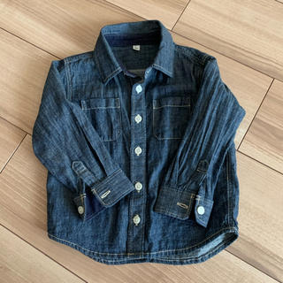 ムジルシリョウヒン(MUJI (無印良品))の無印 デニムシャツ 90(ジャケット/上着)