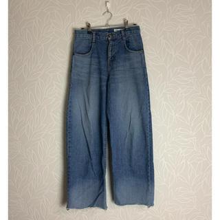 ダブルスタンダードクロージング(DOUBLE STANDARD CLOTHING)のダブルスタンダード  切りっぱなしワイドデニム(デニム/ジーンズ)