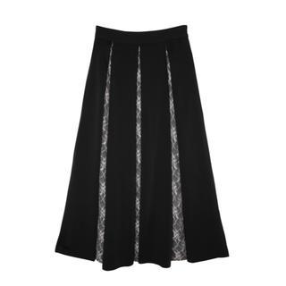 エイミーイストワール(eimy istoire)のeimy♡レースボリュームスカート/ブラック(ロングスカート)