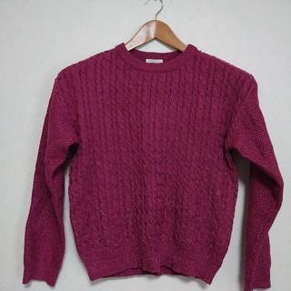 ジーユー(GU)の★特価【GU】 ケーブルデザイン クルーネックセーター(ニット/セーター)
