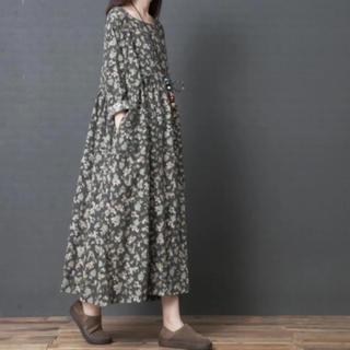 花柄ワンピース XL ❣️新品未使用❣️送料無料(ロングワンピース/マキシワンピース)