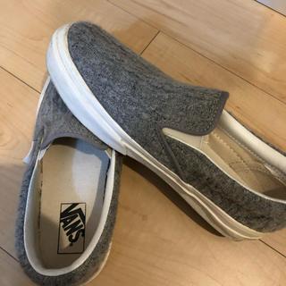 ヴァンズ(VANS)のvans スリッポン グレー 靴 シューズ(ドレス/ビジネス)