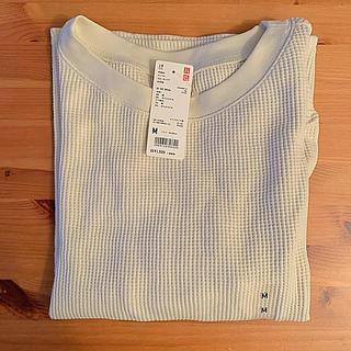 ユニクロ(UNIQLO)のユニクロワッフルクルーネックT七分袖M(Tシャツ(長袖/七分))