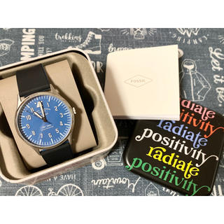 フォッシル(FOSSIL)のFOSSIL 腕時計 シリコンウォッチ メンズ新品未使用 ブルー ブラック(腕時計(アナログ))