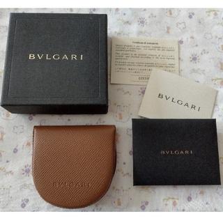 ブルガリ(BVLGARI)の【新品】ブルガリ(BVLGARI) コインケース 小銭入れ メンズ用 ブラウン(コインケース/小銭入れ)