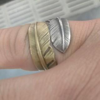 ゴローズ(goro's)のゴローズ ダブルフェザーリング(リング(指輪))