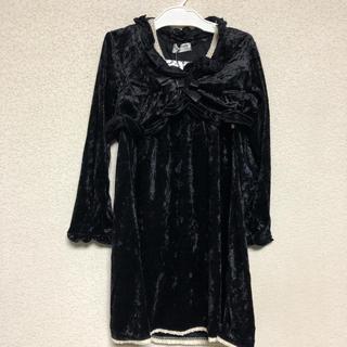 新品 ワンピースドレス セットアップ フォーマル コサージュつき サイズ120(ドレス/フォーマル)