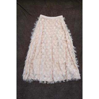 ラグナムーン(LagunaMoon)のLAGUNAMOON カットジャカード タックフレアースカート(ロングスカート)