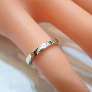 デビアス(DE BEERS)の■DEBEERS PT950 平打ちリング■内側にダイヤモンド入り デビアス■(リング(指輪))