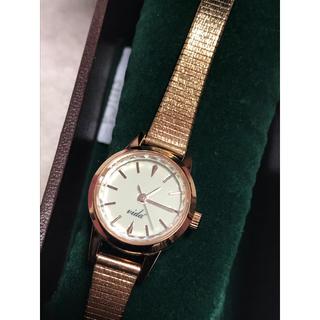 ヴィーダプラス(VIDA+)の美品♡ vida+  ローズゴールドスモールラウンドドレス腕時計 ウォッチ(腕時計)