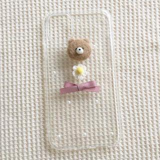 くまさんとお花とリボンのケース(iPhoneケース)